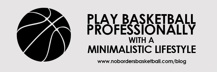 professional basketball with a minimalistic lifestyle